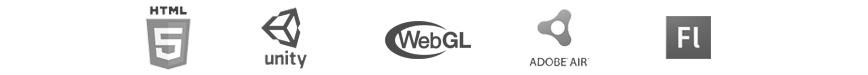 Digital Media for the Web - HTML5 Unity WebGL Flash